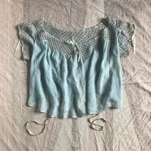 Edwardian Blue Blouse